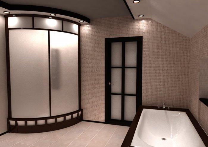 Дизайн ванной с душевой кабиной в хрущевке