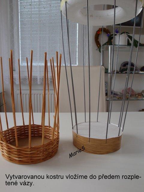 Для работы понадобится гипс и железные прутья для формы вазы.
