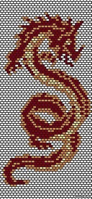 Бисер вышивка схемы драконов