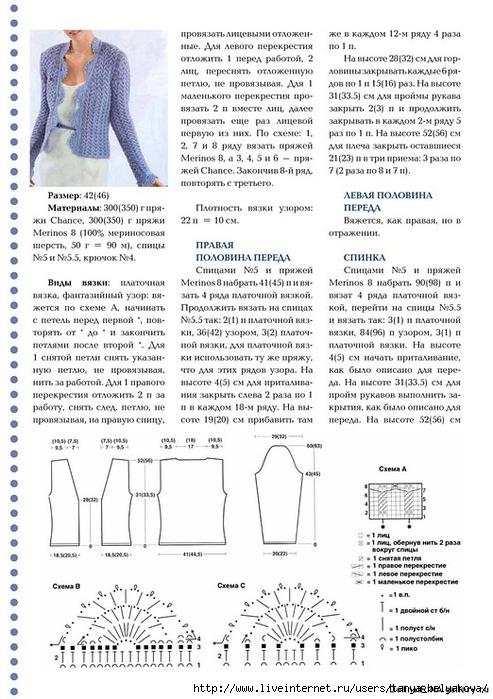 Вязание кофт на пуговицах спицами со схемами и описанием для женщин
