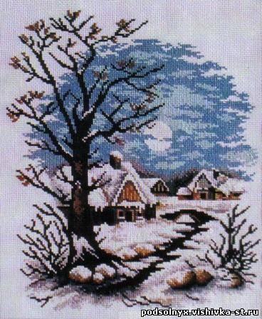 """Схема вышивки  """"Зимний пейзаж """""""