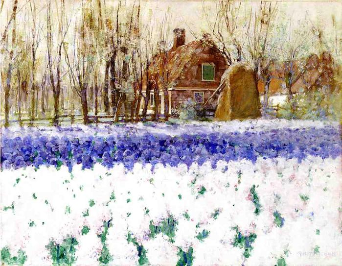 George Hitchcock Cottage with Hyacinths (700x543, 92Kb)