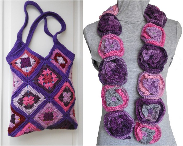 handbags and scarves crocheted super idea!