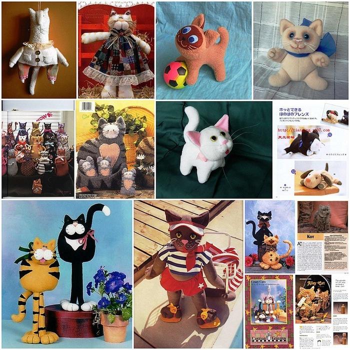 Что понадобится?  Сапфировая_кошка.  Выкройки и схемы мягких игрушек - котиков и еще нескольких симпатичных животных.