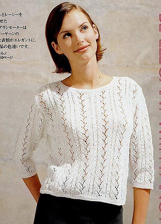 Вязание. Ажурный свитер