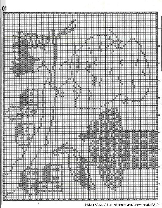 Филейное вязание схемы картин крючком схемы 41