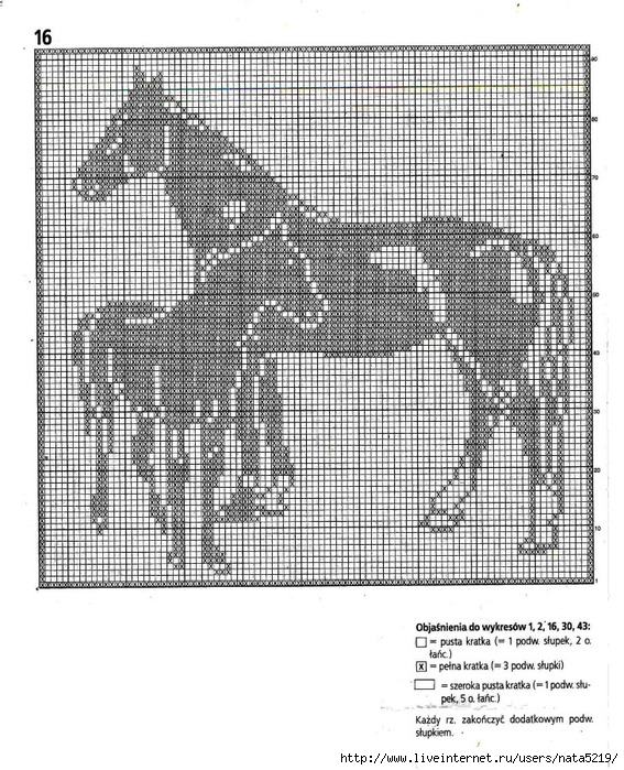 Лошадь схемы вязания крючком