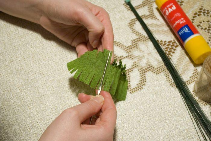 Папоротник как сделать из бумаги