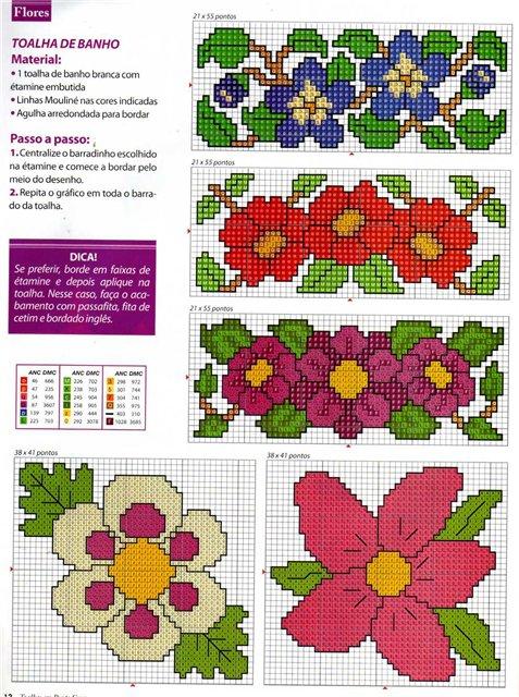Орнаментами из цветов вязание