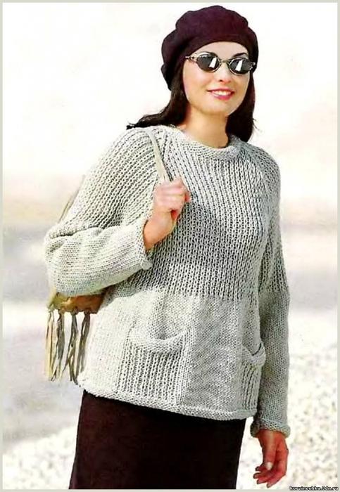 Как связать спицами рукав свитера 10