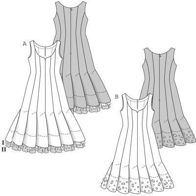 выкройка вечернее платье в пол