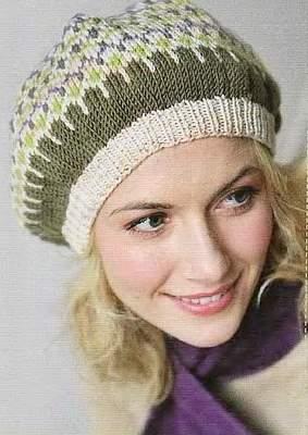вязание берети кепки.