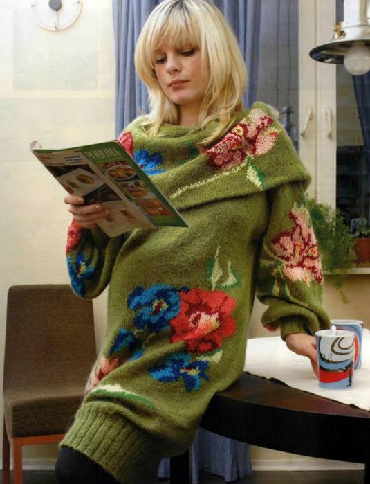 Связать свитер красивый 11