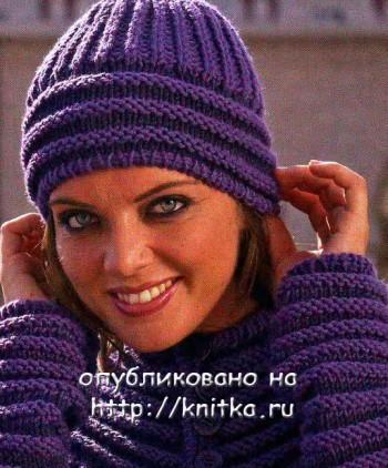 Схема вязания шапки женской
