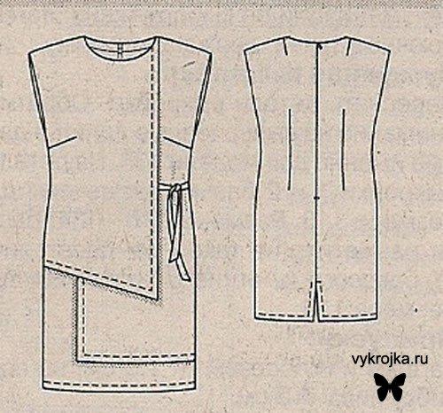 Схема выкройки платья-фартука