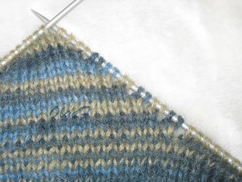 вязание носков на 2-х спицах.