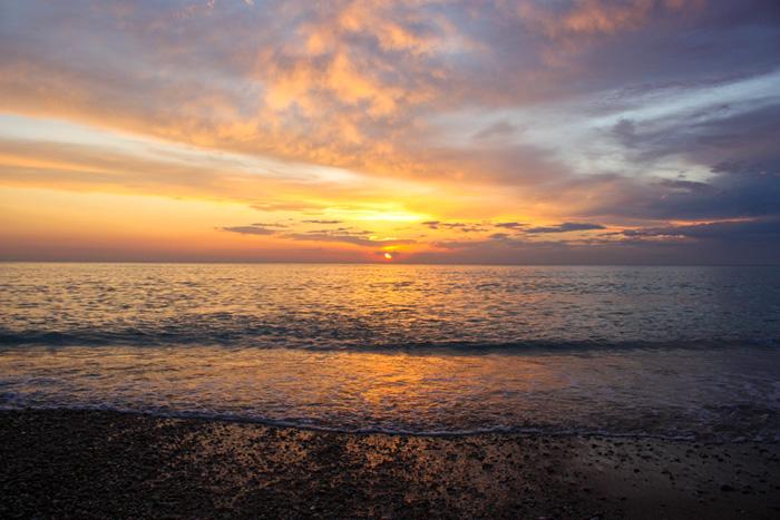 Крым закат над морем