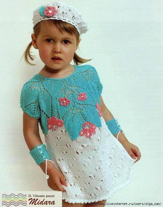 Комментарий: Описание: вязание туники спицами. вязаная юбка для детей...