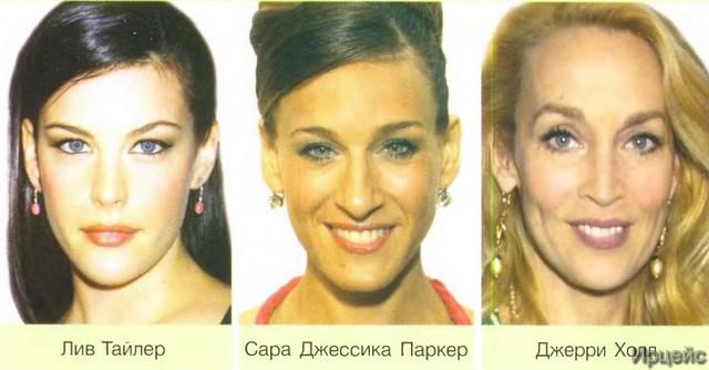 Худое лицо стрижка и макияж