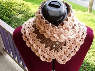 """На нашем сайте для девушек  """"Дамочка """" Вы постоянно можете найти публикацию - вязание крючком шарф воротник..."""