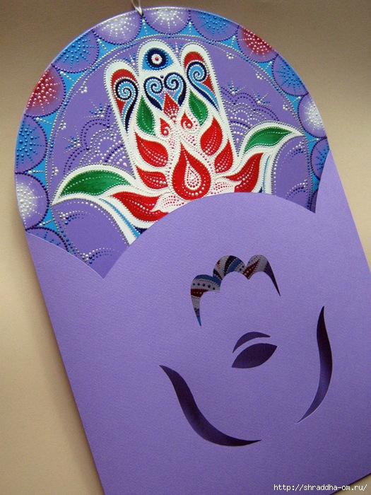 Хамса, рука Фатимы, оберег, роспись акрилом, автор Shraddha (9) (525x700, 309Kb)