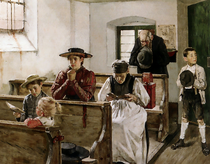 Molitor Martin Von (1759-1812)Morning-Prayers (700x548, 316Kb)