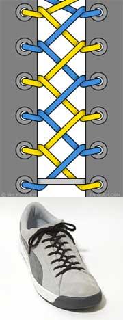 Мастер-класс по художественному завязыванию шнурков:) 31056