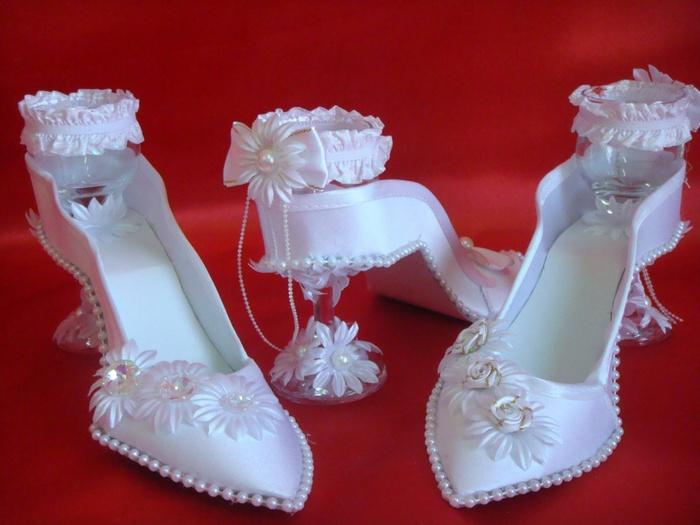 Туфля рюмка на свадьбу