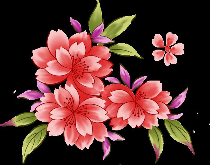 Очень красивые рисованные цветы