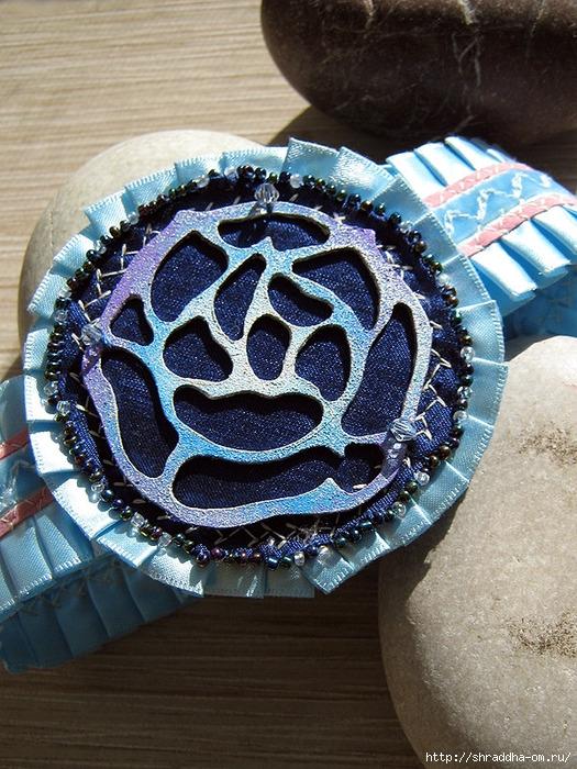 серьги и кулон Утренняя роза, декор, ручная работа, автор Shraddha, 11 (525x700, 361Kb)