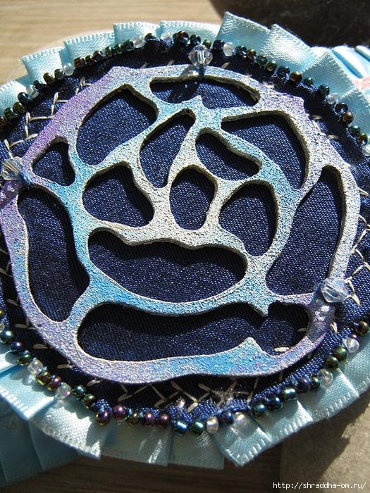 серьги и кулон Утренняя роза, декор, ручная работа, автор Shraddha, 12 (525x700, 465Kb)