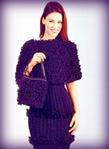 ВАМПОТРЕБУЕТСЯ: ПРЯЖА по 150 г для платья, накидки и сумочки черной пряжи...  Вязаный комплект для торжественных...