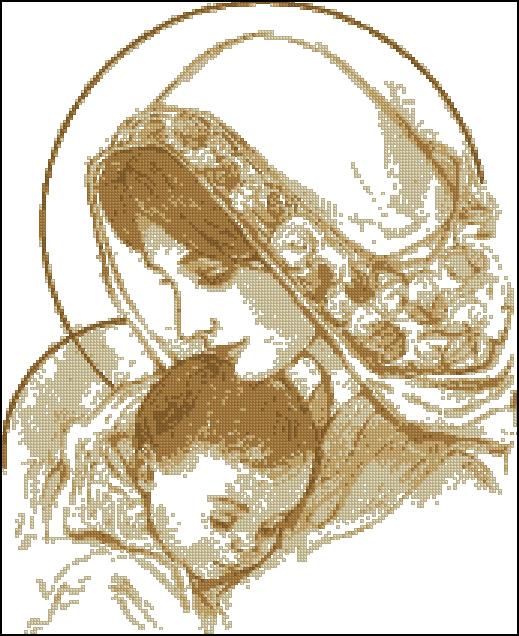 мадонна с младенцем беж (519x636, 324Kb) .