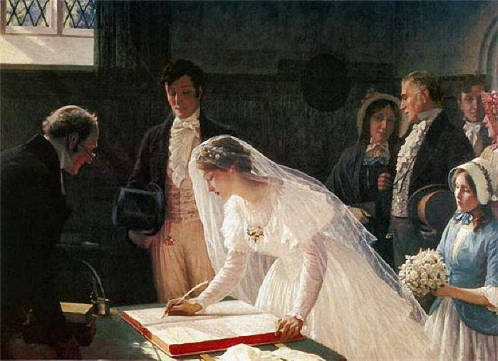 Edmund_Blair_Leighton_Signing_the_register1 (700x507, 251Kb)