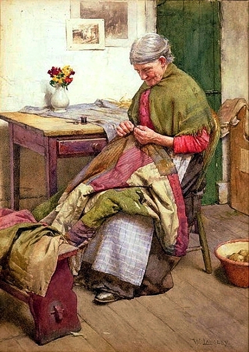 _Walter_Langley__The_Old_Quilt (496x700, 312Kb)