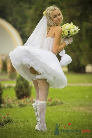 что под юбкой невесты фото