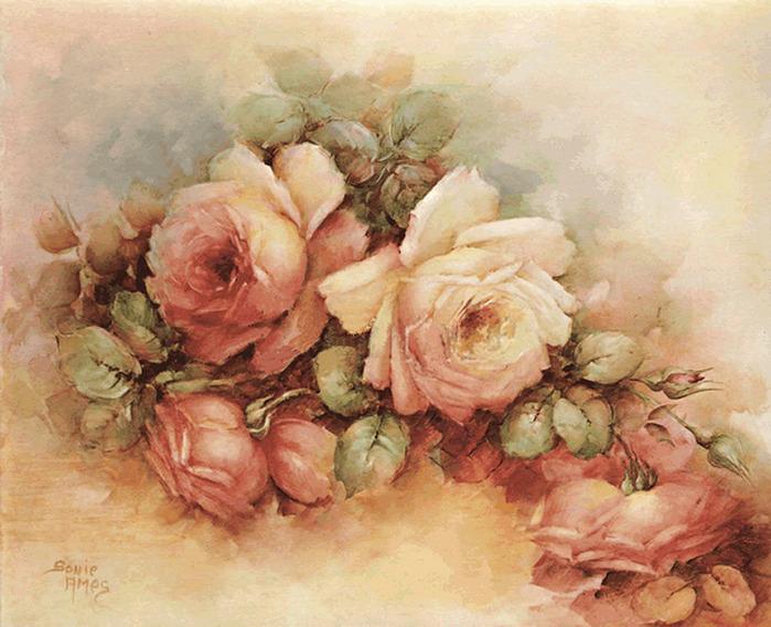 Картинки для декупажа цветы винтаж 3