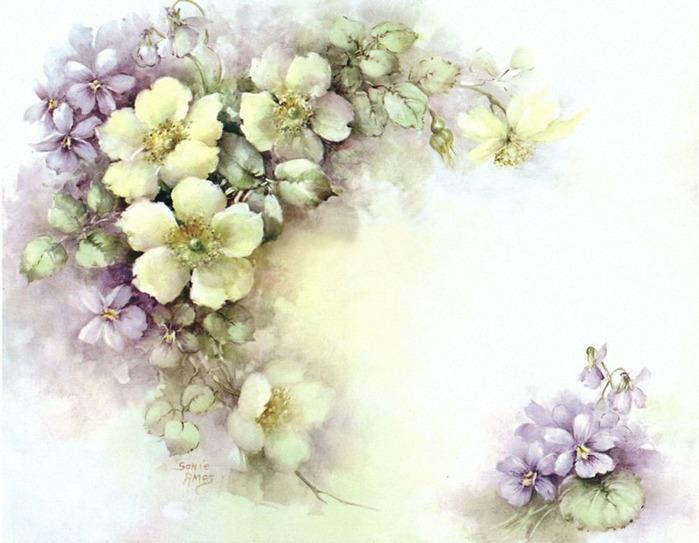 Винтажные картинки для декупажа цветы 7