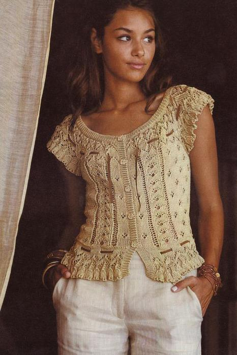 блуза + схема с описанием