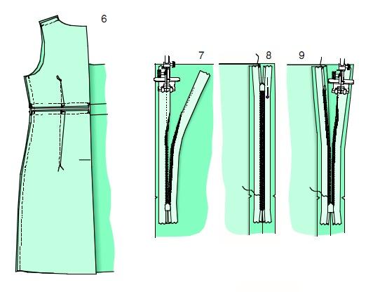 Как сделать боковые швы у платья 3