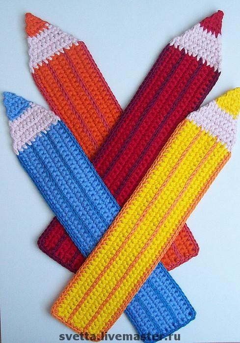 Виды творчества: Вязание Вязание крючком.  Сложность.  4 сен 2012 .  Закладка Вязание крючком: Вязаные закладки Пряжа...