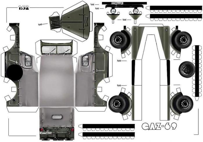 Схема из бумаги машины