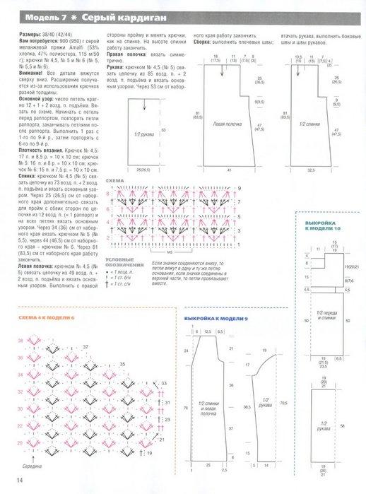 Кардиган для полных крючком схемы и описание