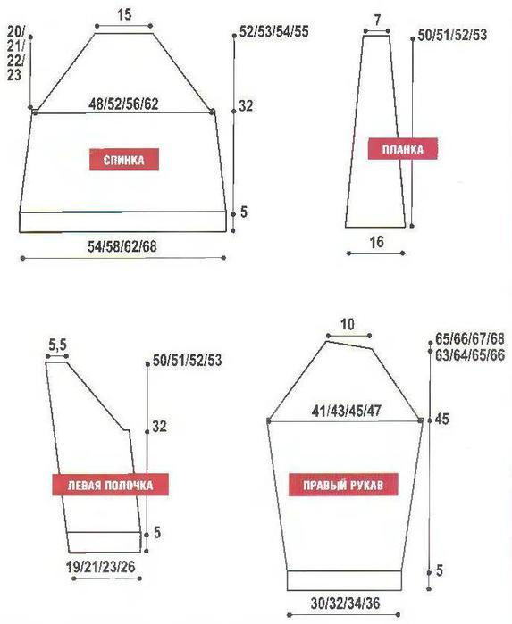Схема вязания плетёнки.