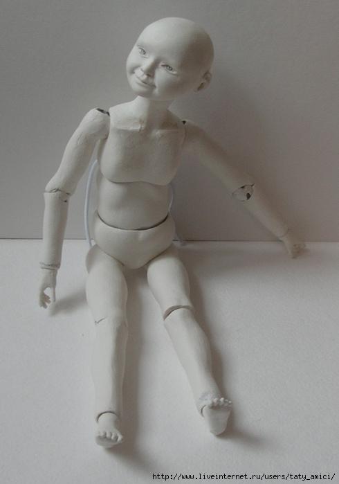 Кукла из папье-маше шарнирная своими руками 11