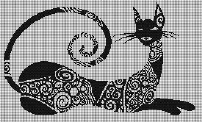 Коты.Схемы для вышивки-