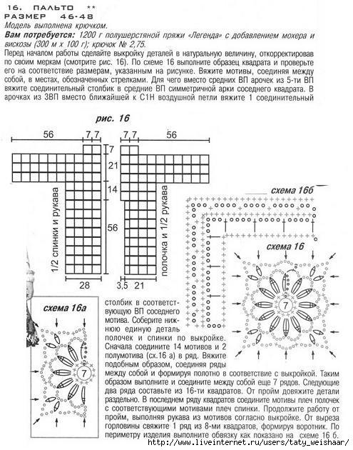 Кейп вязание схема и выкройка 77