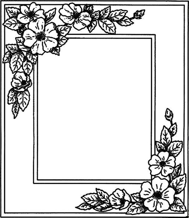 Рамка для картины раскраска