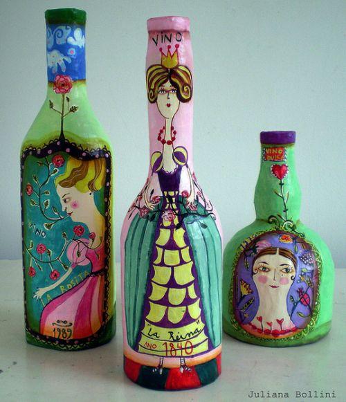 Как на бутылках рисовать