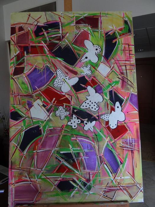 Рисуем абстракцию акриловыми